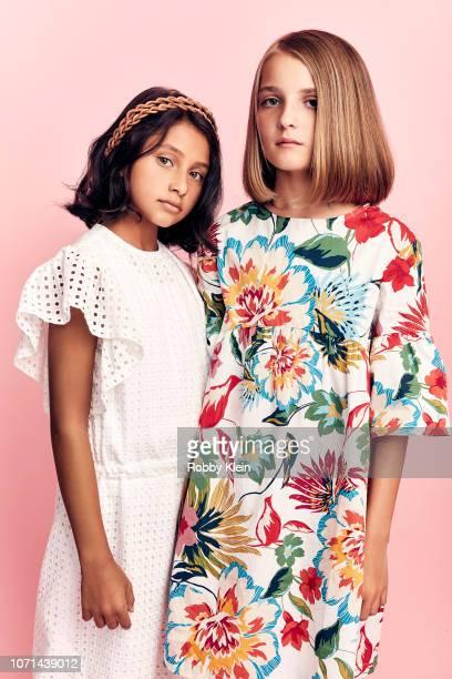 Ludovica Nasti and Elisa del Genio of HBO's 'My Brilliant Friend' pose for a portrait during the 2018 Summer Television Critics Association Press...
