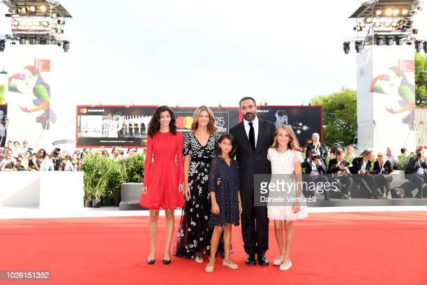 Ludovica Nasti Margherita Mazzucco Elisa Del Genio Saverio Costanzo and Gaia Girace walk the red carpet ahead of the 'My Brilliant Friend ' screening...