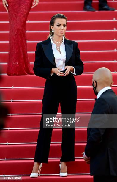 """Ludovica Pagani attends the """"A Felesegam Tortenete/The Story Of My Wife"""" screening during the 74th annual Cannes Film Festival on July 14, 2021 in..."""