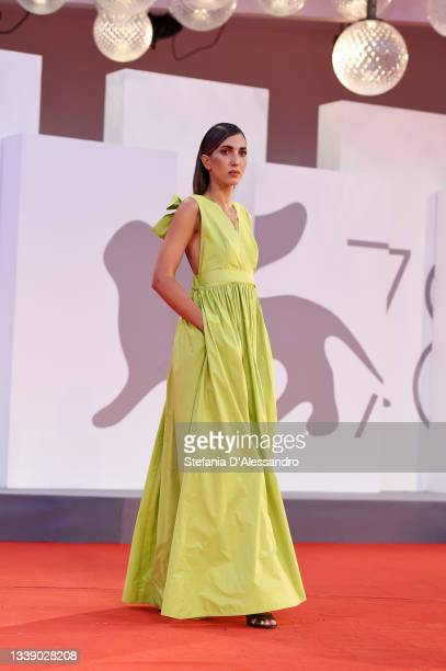 """Ludovica Ragazzo attends the red carpet of the movie """"Qui Rido Io"""" during the 78th Venice International Film Festival on September 07, 2021 in..."""