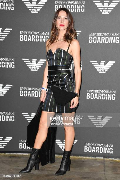 Ludovica Sauer attends the Emporio Armani show during Milan Fashion Week Spring/Summer 2019 on September 20, 2018 in Milan, Italy.