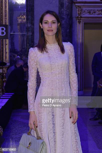 Ludovica Sauer attends the Simonetta Ravizza show during Milan Fashion Week Fall/Winter 2018/19 on February 24 2018 in Milan Italy