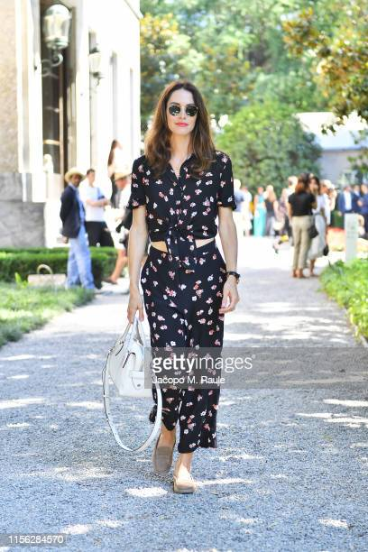 Ludovica Sauer attends the Tod's show at Milan Men's Fashion Week Spring/Summer 2020 on June 16, 2019 in Milan, Italy.