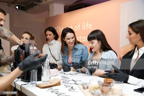 """Ludovica Sauer attends the Triumph """"Design for Life: Fit Smart"""" launch event at Prince Charles on February 13, 2020 in Berlin, Germany."""