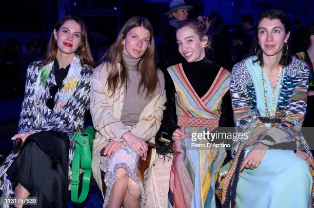 Ludovica Sauer Virginia Galateri Micol Sabbadini and Marta F attend the Missoni show at Milan Fashion Week Autumn/Winter 2019/20 on February 23 2019...