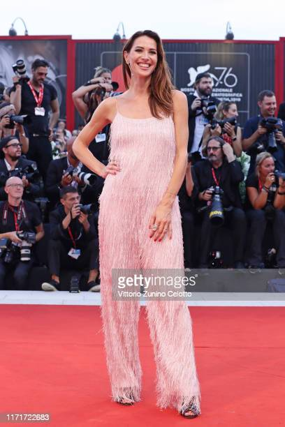 Ludovica Sauer walks the red carpet ahead of the Joker screening during the 76th Venice Film Festival at Sala Grande on August 31 2019 in Venice Italy