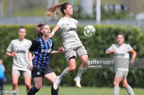 Ludovica Silvioni of Juventus Women U19 in action during the Serie A Primavera Final Four match between Juventus U19 Women and FC Internazionale U19...
