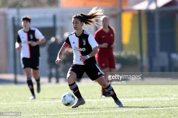 Ludovica Silvioni of Juventus Women U19 in action during the Viareggio Women's Cup match between Juventus U19 and FC Internazionale U19 on February...