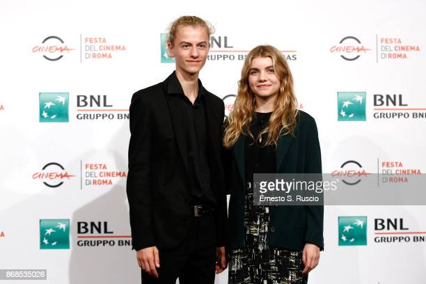 Ludovico Girardello and Galatea Bellugi attend 'Il Ragazzo Invisibile Seconda Generazione' photocall during the 12th Rome Film Fest at Auditorium...