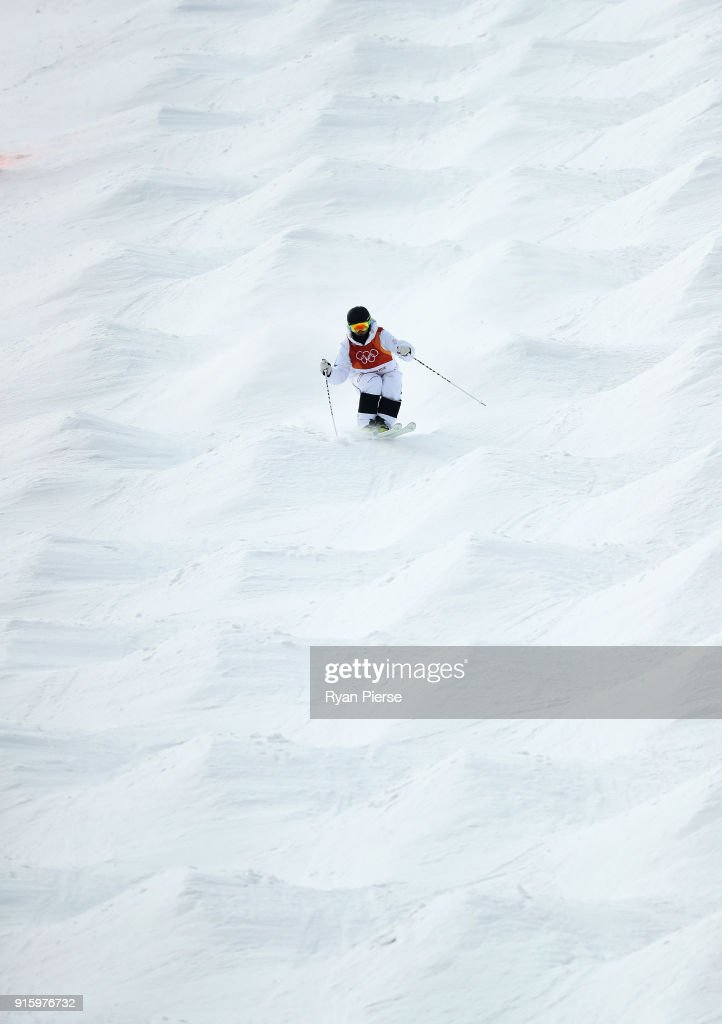Ludvig Fjallstrom of Sweden competes during the Men's Freestyle Skiing Moguls qualification ahead of the PyeongChang 2018 Winter Olympic Games at Phoenix Snow Park on February 9, 2018 in Pyeongchang-gun, South Korea.