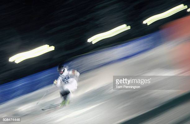Ludvig Fjallstrom of Sweden competes in the men's FIS Freestyle Skiing Moguls World Cup at the Visa Freestyle International at Deer Valley on...