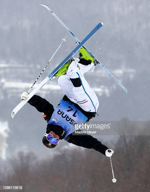 Ludvig Fjallstrom of Sweden competes in the Men's Moguls Final during the FIS Freestyle Ski World Cup 2019 at Whiteface Mountain on January 18, 2019...