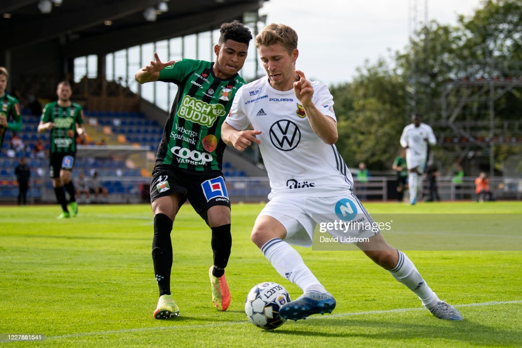 Ludvig Fritzson Of Ostersunds Fk And Keanin Ayer Of Varbergs Bois News Photo Getty Images