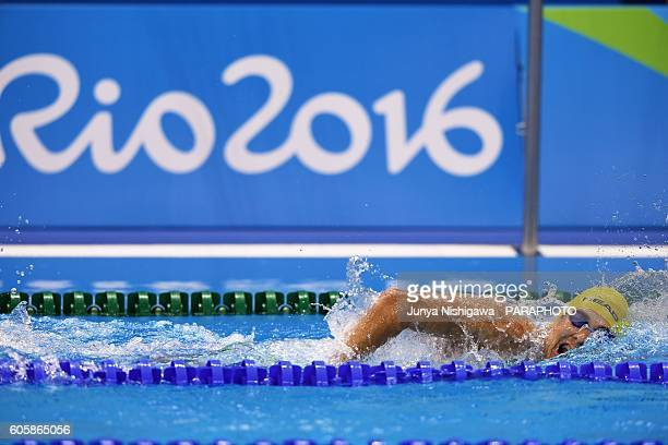 Ludvig of SWEDEN competes in the MEN'S 400M FREESTYLE S10 HEAT on day 8 of the Rio 2016 Paralympic Games at Olympic Aquatics Stadium on September 15...
