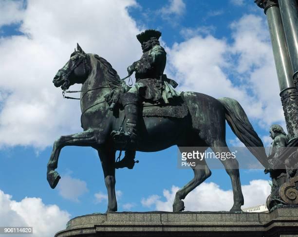 Ludwig Andreas von Khevenhuller Austrian military Statue part of the Maria Theresia monument By Kaspar von Zumbusch 1888 MariaTheresien Square Vienna...