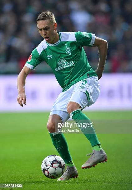Ludwig Augustinsson of Bremen in action during the Bundesliga match between SV Werder Bremen and FC Bayern Muenchen at Weserstadion on December 1...