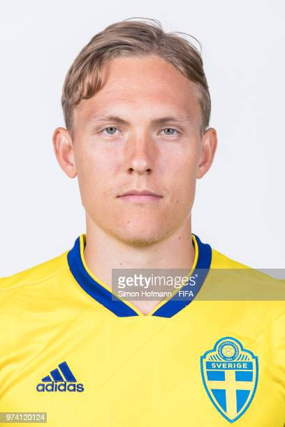 Ludwig Augustinsson of Sweden poses during the official FIFA World Cup 2018 portrait session on June 13 2018 in Gelendzhik Russia