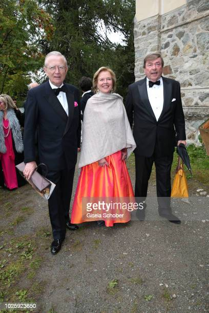 Ludwig Ferdinand zu SaynWittgensteinBerleburg Anna Veltheim and her husband Nikolaus Veltheim during the wedding of Prince Konstantin of Bavaria and...