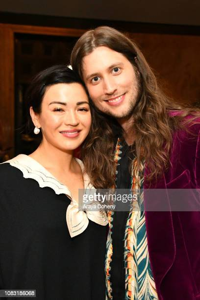 Ludwig Göransson and his wife attend the Film Independent Hosts An Evening With Ludwig Göransson at The Wallis Annenberg Center for the Performing...