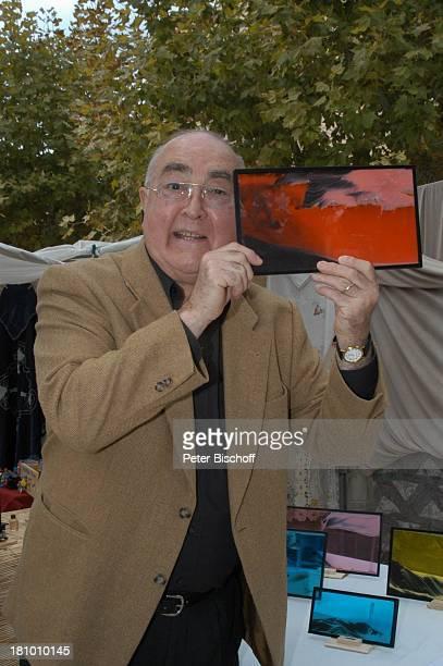Ludwig Haas, Urlaub, Andratx/ Insel Mallorca / Spanien/ Europa, , Mittelmeer, Markt, Sandbild, Mineralbild, Schauspieler, Promis, Prominente,...
