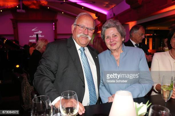 Ludwig Hagn and his wife Christa Hagn during the piano night hosted by Wempe and Glashuette Original at Gruenwalder Einkehr on April 25 2017 in...