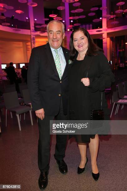 Ludwig Spaenle and his wife Miriam Spaenle during the PIN Party 'Let's party 4 art' at Pinakothek der Moderne on November 18 2017 in Munich Germany