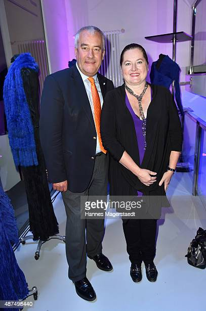 Ludwig Spaenle and his wife Miriam Spaenle during the 'Susanne Wiebe Fashion Art Show' on September 9 2015 in Munich Germany