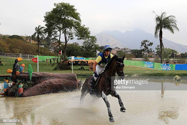 Ludwig Svennerstal of Sweden riding Aspe competes during the Cross Country Eventing on Day 3 of the Rio 2016 Olympic Games at the Olympic Equestrian...