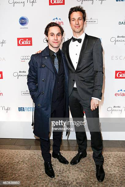 Ludwig Trepte and Florian David Fitz attend the 'Berlin Opening Night Of Gala Ufa Fiction on February 05 2015 in Berlin Germany