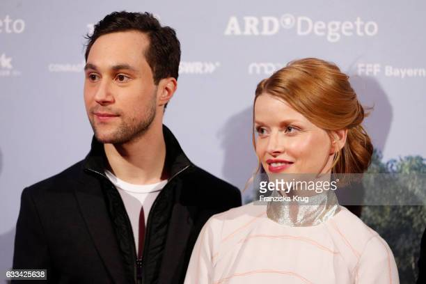 Ludwig Trepte and Karoline Schuch attend the 'Katharina Luther' Premiere at Franzoesische Friedrichstadtkirche in Berlin on February 1 2017 in Berlin...