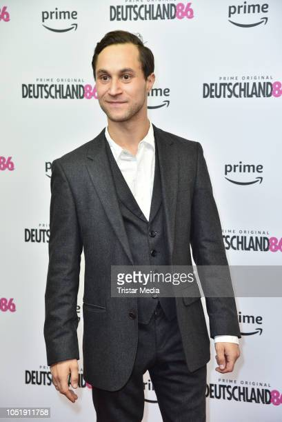 Ludwig Trepte attends the premiere for the film 'Deutschland86' at Kino International on October 11 2018 in Berlin Germany