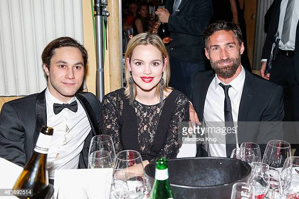 Ludwig Trepte Emilia Schuele and Benjamin Sadler attend the German Film Ball 2015 on January 17 2015 in Munich Germany