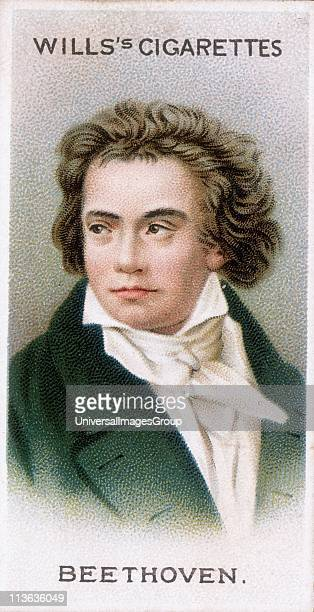 Ludwig van Beethoven German composer a bridge between Classical and Romantic styles Chromolithograph card 1912