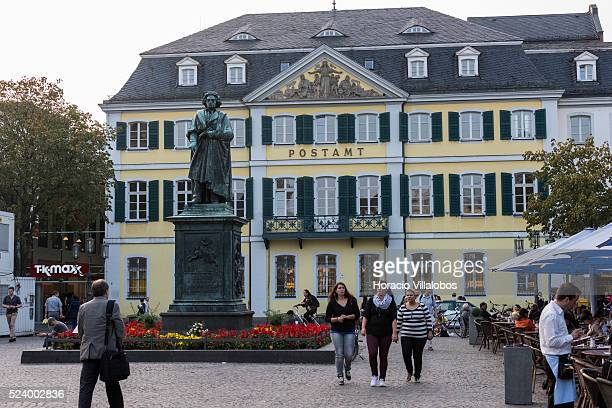 Ludwig van Beethoven Monument stands on the Muensterplatz in Bonn, Beethoven's birthplace, Germany, 08 September 2014. Bonn, that offers many...