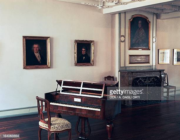 Ludwig van Beethoven's piano in his birthplace in Bonn Germany