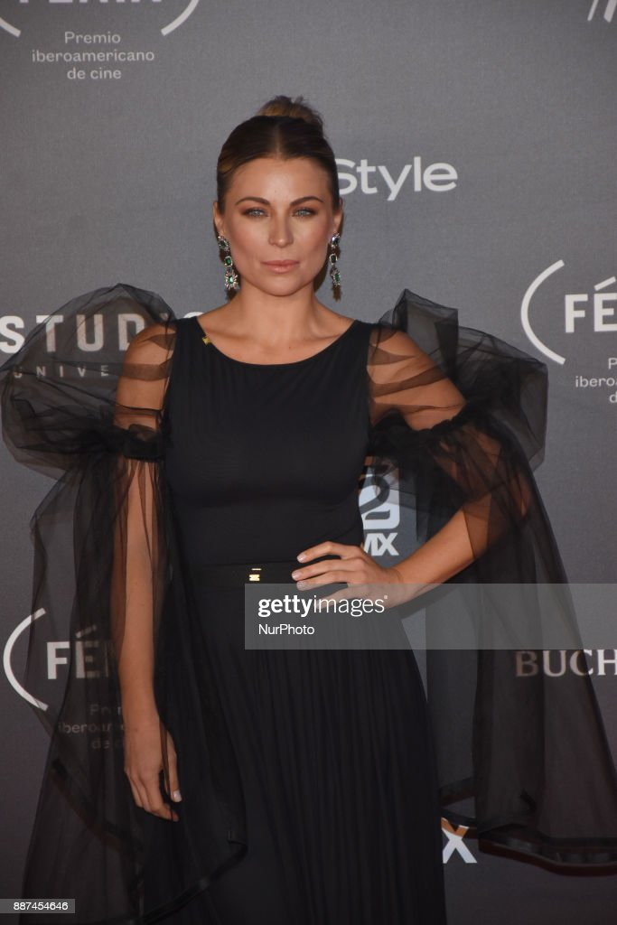 Ludwika Paleta is seen arriving at red carpet of Fenix Film Awards on December 06, 2017 in México City, Mexico