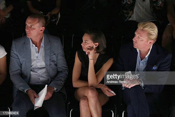 Lueder Fromm Director Global Marketing Communications MercedesBenz Lilly Becker and Boris Becker attend the Malaikaraiss Show during MercedesBenz...