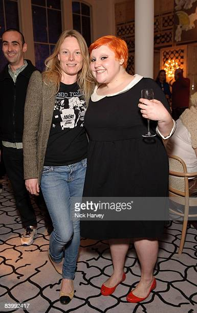Luella Bartley and Beth Ditto attend fashion magazine Love's Christmas Tea And Treasure Hunt at Royal Academy of Arts on December 10, 2008 in London,...