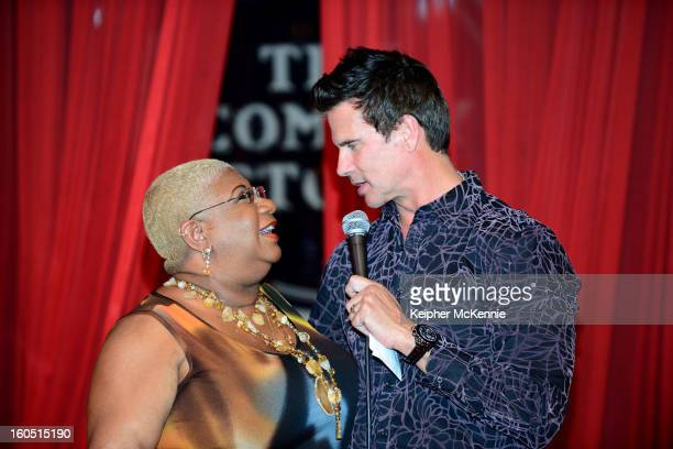 Luenell and Lorenzo Lamas attend Maverick Artists Agencey's Comedy Showcase at The Comedy Store on January 30 2013 in West Hollywood California
