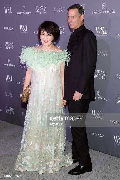 LueSai Kan and Allan Pollack attend the 2018 WSJ Magazine Innovator Awards at Museum of Modern Art on November 7 2018 in New York City