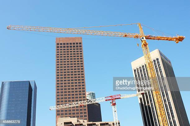 torre luffing guindaste de construção de los angeles - universidade da califórnia los angeles imagens e fotografias de stock