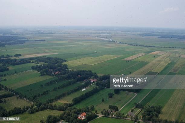 Luftaufnahme der Hammeniederung Worpswede Teufelsmoor Niedersachsen Deutschland Europa Künstlerdorf Künstlerkolonie Reise BB DIG PNr 990/2011