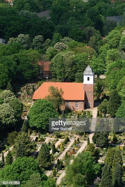 Luftaufnahme der Zionskirche und Friedhof Worpswede Teufelsmoor Niedersachsen Deutschland Europa Künstlerdorf Künstlerkolonie Kirche Reise BB DIG PNr...