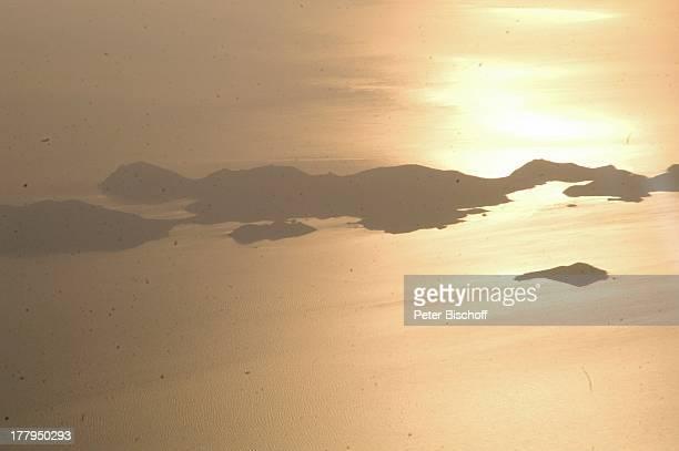Luftaufnahme kleine Inseln bei Insel Kos Griechenland Europa Meer Mittelmeer Sonnenuntergang Reise