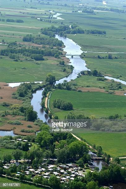 Luftaufnahme vom Fluss Hamme in Hammeniederung Neu Helgoland Worpswede Teufelsmoor Niedersachsen Deutschland Europa Künstlerdorf Künstlerkolonie...