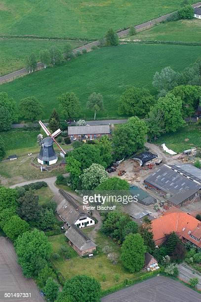 Luftaufnahme von Worpsweder Mühle Worpswede Teufelsmoor Niedersachsen Deutschland Europa Künstlerdorf Künstlerkolonie Reise BB DIG PNr 866/2008