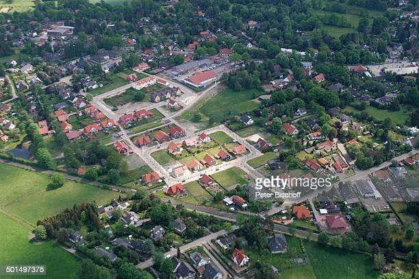 Luftaufnahme Worpswede Teufelsmoor Niedersachsen Deutschland Europa Künstlerdorf Künstlerkolonie Wohnsiedlung Neubaugebiet Reise BB DIG PNr 866/2008