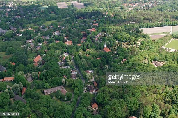 Luftaufnahme Worpswede Teufelsmoor Niedersachsen Deutschland Europa Künstlerdorf Künstlerkolonie Zionskirche Kirche Reise BB DIG PNr 866/2008