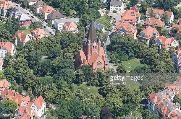 Luftbild Luftaufnahme Ansicht Halle Saale Sachsen Anhalt Paulusviertel Pauluskirche