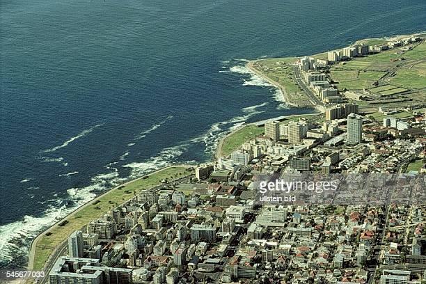 Luftbild von Greenpoint, Vorort vonKapstadt- 1990